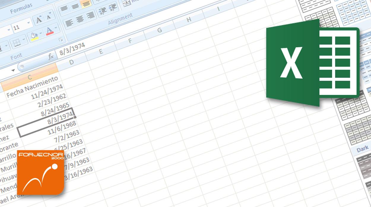 Forjecnor Formation Excel